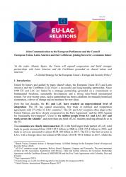 Comunicación conjunta al Parlamento Europeo y al Consejo La Unión Europea, América Latina y el Caribe: aunar fuerzas para un futuro común